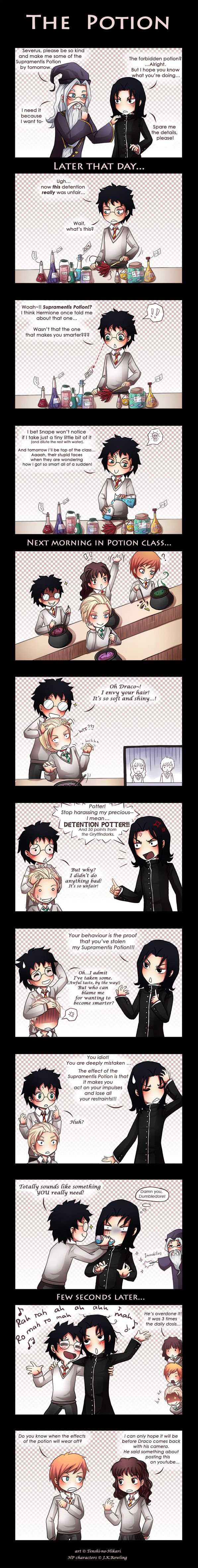 HP - Harry Potter and Severus Snape - The potion by Tenshi-no-Hikari