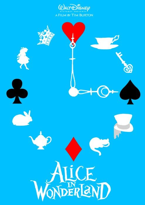 Alice in Wonderland Poster....like this for the disney marathon
