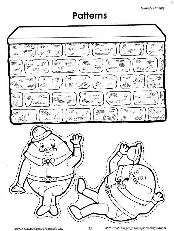 32 best Humpty Dumpty images on Pinterest | Nursery rhyme crafts ...