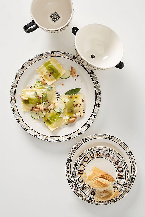 Bistro Tile Dinner Plates Set Of 4 Dinner Plates Dinnerware