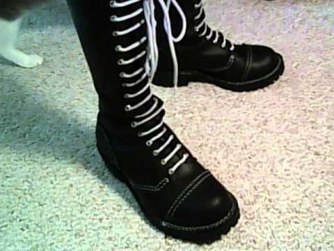 WESCO ladder laced skinhead boots - YouTube