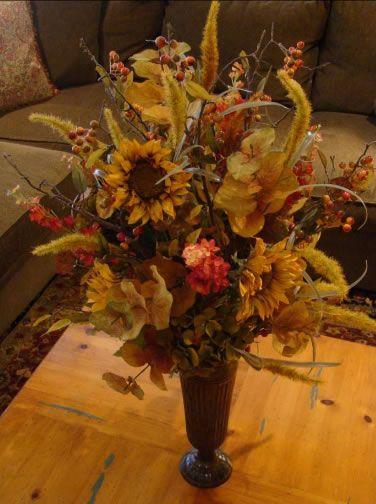 Best 25 silk flowers ideas on pinterest silk flowers for Fall fake flower arrangement ideas