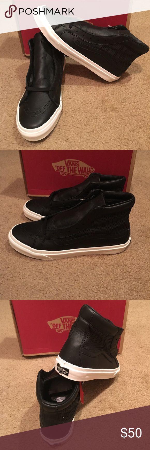 Square Perf SK8Hi Slim Cutout Vans New in box. Black Vans Shoes Sneakers