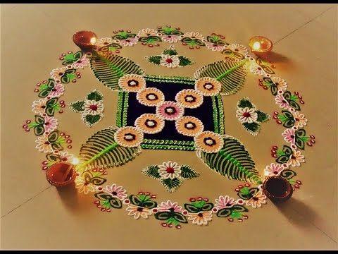 Easy rangoli using bangles.Innovative bangles rangoli design. - YouTube