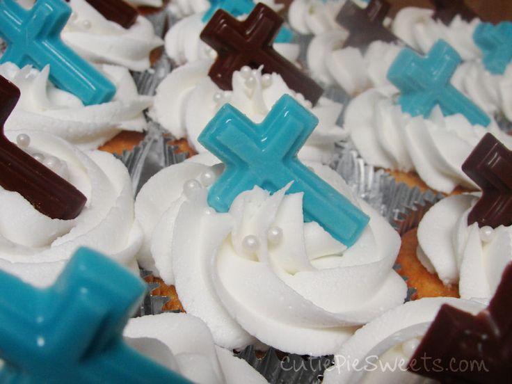Cross Cupcakes Vanilla Cupcakes Buttercream Frosting