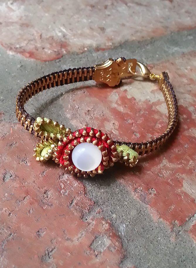 Zipper Rose Bracelet
