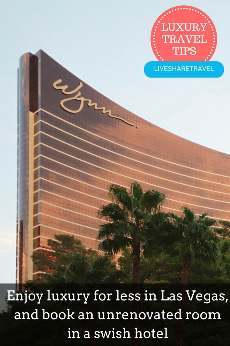 Enjoy a luxury hotel for less in Las Vegas and book an unrenovated room in a swish hotel. Discover 9 tips for affordable luxury for less in Las Vegas now. Places to go in Las Vegas / Things to do in Las Vegas / Travel tips / Travel discounts / Hotels in Las Vegas / Shopping in Las Vegas / Attractions in Las Vegas