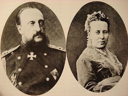 Storfyrst Nikolaj Nikolajevitj Senior og storfyrstinde Alexandra Petrovna