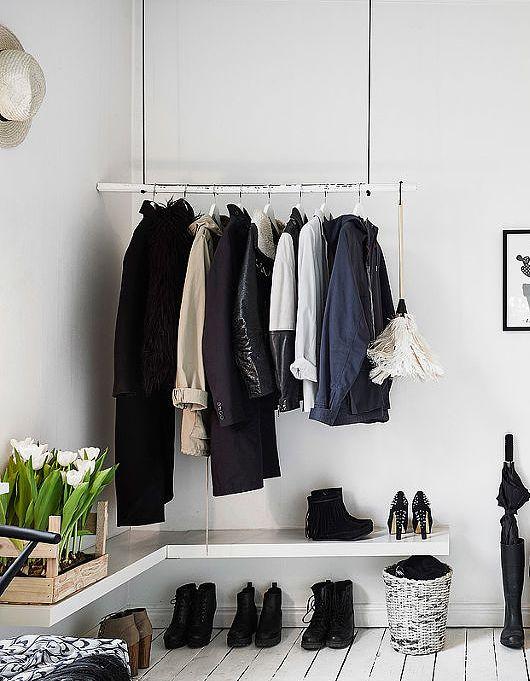 hanging rod & shelf