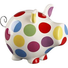 Polka Dot Piggy Bank. Your favourite piggy bank: http://www.helpmetosave.com/2012/02/piggy-bank/