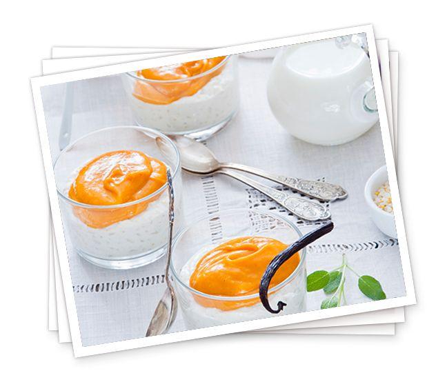Veganer Milchreis mit Mangopüree - Simply V