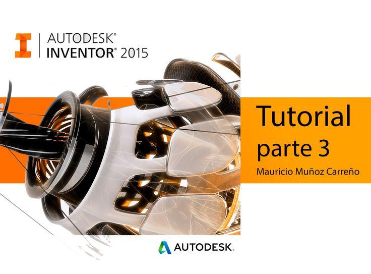 Tutorial Inventor 2015 - Recorrido - audio español (parte 3)