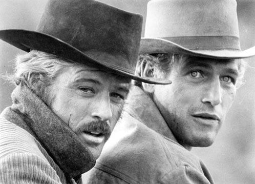 Butch Cassidy & the Sundance Kid aka Paul Newman and Robert Redford. Filmed in Utah