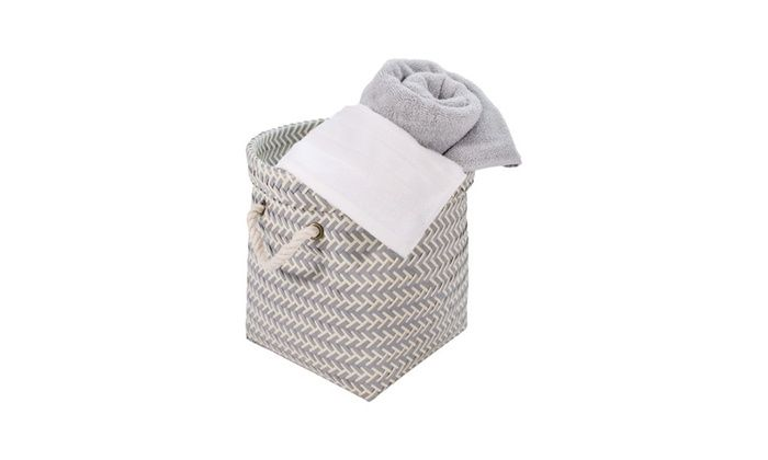 Tidy Living: Small Round Woven Basket