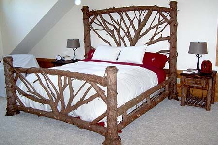 Adirondack Custom Interior Twig Work Rustic Apartment
