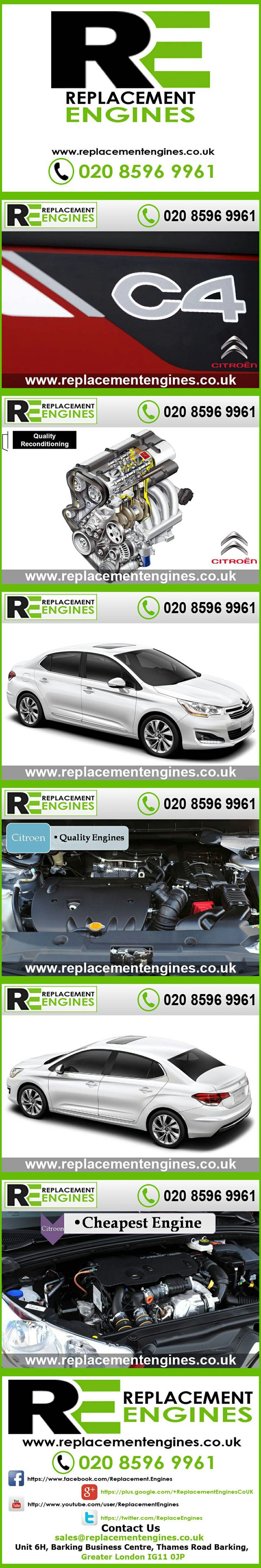 Citroen C4 Engines for sale at the cheapest prices, we have low mileage used & reconditioned engines in stock now, ready to be delivered to anywhere in the UK or overseas, visit Replacement Engines website here.  http://www.replacementengines.co.uk/car-md.asp?part=all-citroen-c4-engine&mo_id=32334