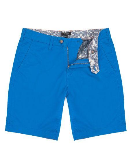 Chino short - Bright Blue | Shorts | Ted Baker