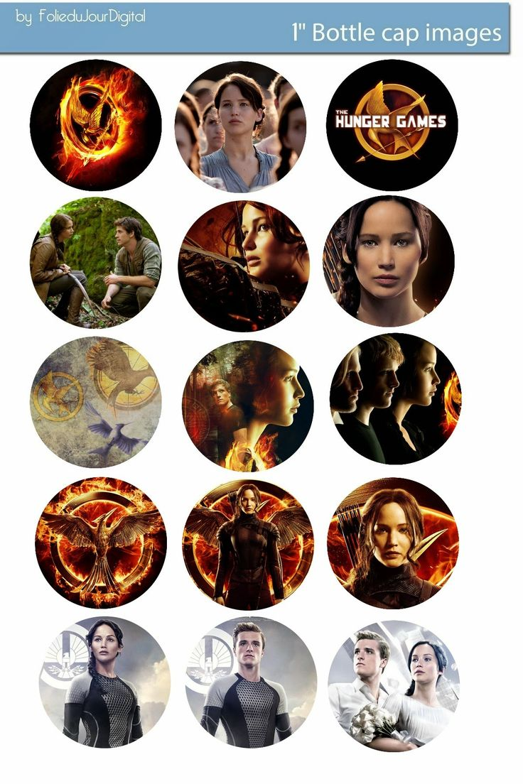 Free Bottle Cap Images: Hunger Game free bottle cap images - Catching Fire