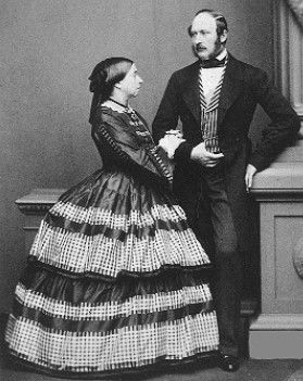 Queen Victoria and Prince Albert in 1861