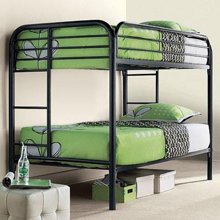 Pin By Elise On Guests Double Deck Bed Bunk Beds Metal