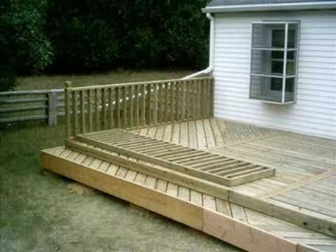 This is what I am going to do except the front left corner will be built up to the pool :)