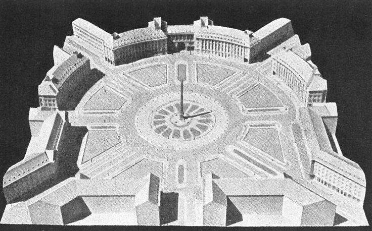 Takto mělo náměstí vypadat dle profesora Antonína Engela.