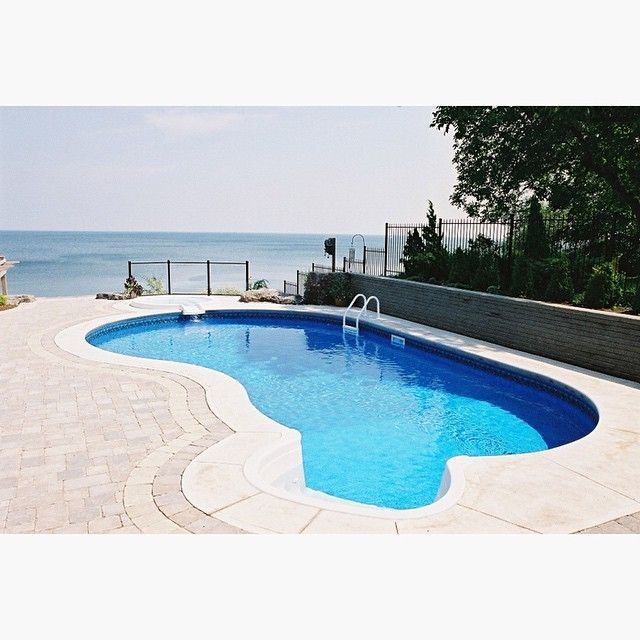 Acid Wash Gunite Pool : Lakeside retreat complete with spillover spa and straight
