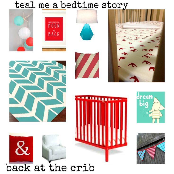 Nursery Look #3 - Teal me a Bedtime Story! Includes Scarlet Swallow's sheet set from back at the crib. Available to purchase from March 30th