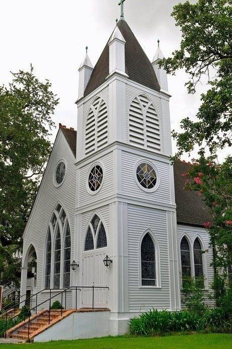 My old church, St. Matthew's Episcopal in Houma, LA (before it burned down in 2011)