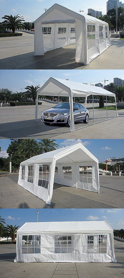 Marquees and Tents 180994: 20X20 Pvc Tent Shelter Heavy Duty Outdoor Party Wedding Canopy Carport White -> BUY IT NOW ONLY: $396.77 on eBay!