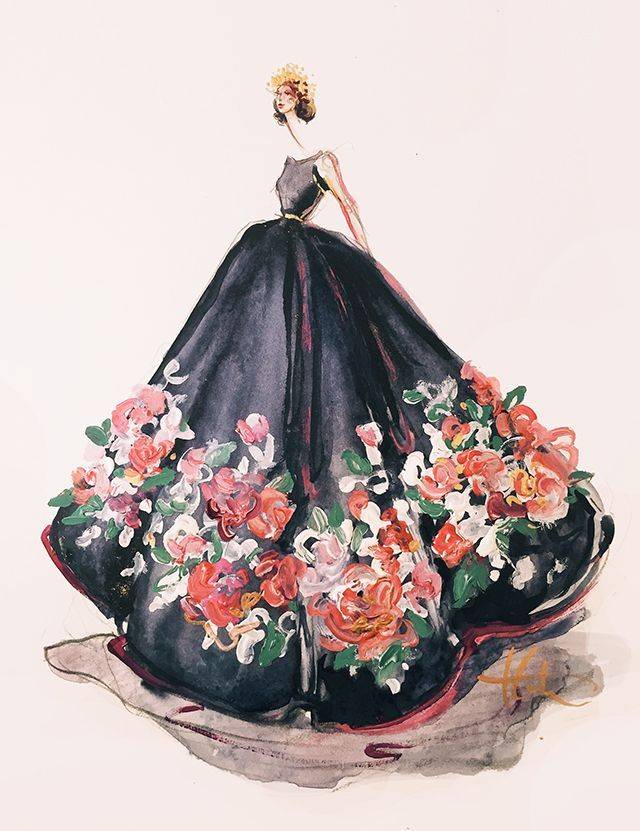 cool ELIE SAAB (PAPERFASHION) by http://www.polyvorebydana.us/fashion-sketches/elie-saab-paperfashion/