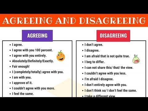 How To Express Agreement And Disagreement In English 7 E S L
