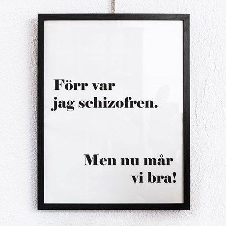 Poster - Förr var jag schizofren
