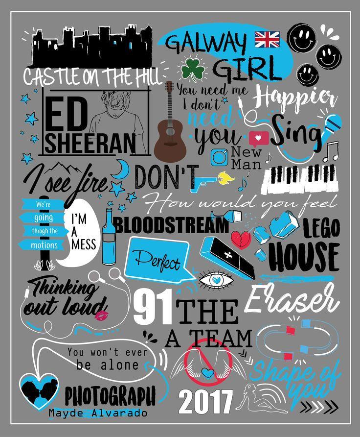 #Ed Sheeran #illustrations #songs