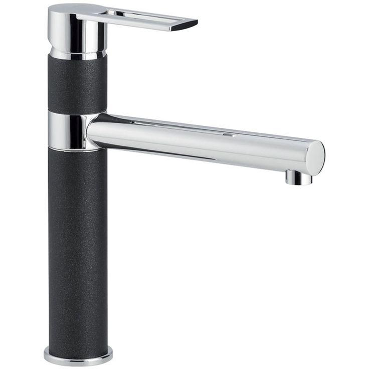 Black Kitchen Sink And Taps: Carron Phoenix Reno Single Lever Jet Black Kitchen Sink
