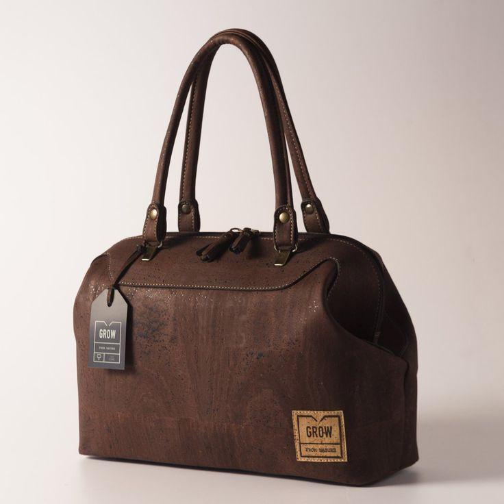 Grow's Quercus Falcata Dark Cork Handbag