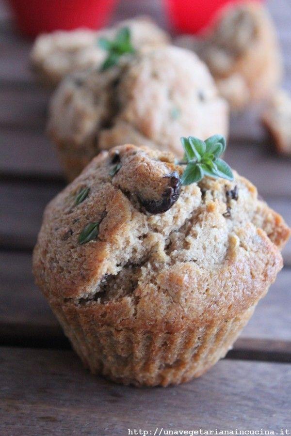 Muffin salati timo limone olive_unavegetarianaincucina