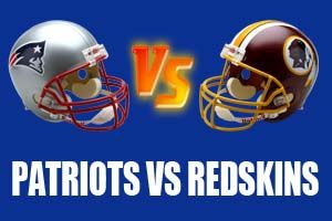 New England Patriots vs Washington Redskins Live Streaming