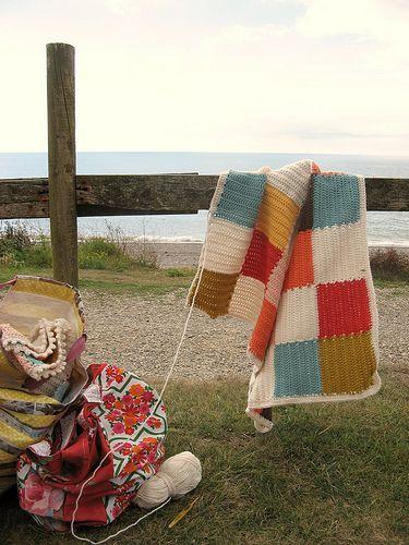 crochet square blocks blanket