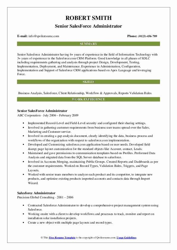 Salesforce Administrator Resume Examples Lovely Salesforce Administrator Resume Samples Marketing Resume Accountant Resume Job Resume Samples