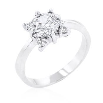 Sterling Silver 5-Stone Petite Engagement Ring