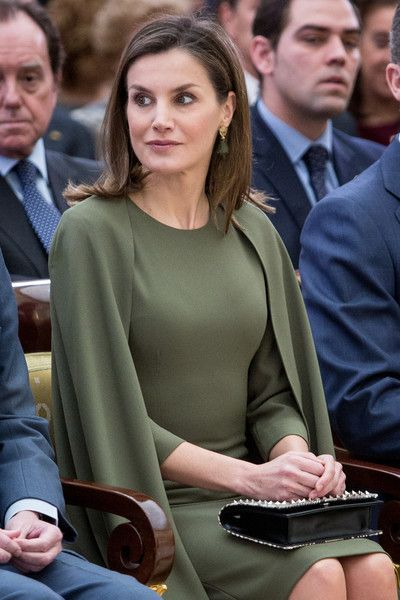 Queen Letizia of Spain attends the National Sports Awards ceremony at El Pardo Palace on February 19, 2018 in Madrid, Spain.