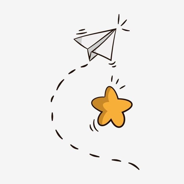 Cartoon Airplane Dotted Line White Paper Plane Yellow Star Star Clipart Cartoon Airplane Dotted Line Png And Vector With Transparent Background For Free Down Paper Plane Cartoon Airplane Banner Background Images