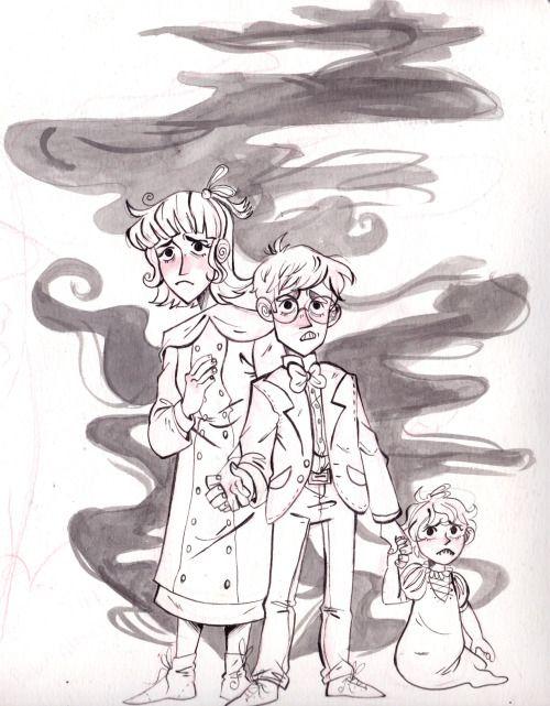 The unfortunate Baudelaire orphans