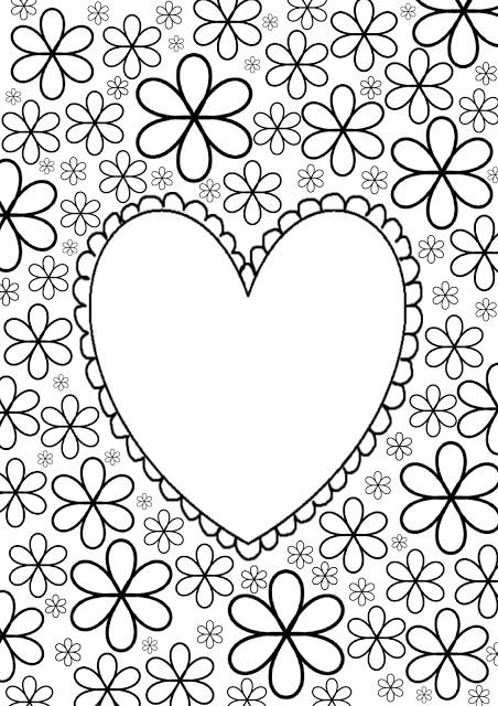 Kleurplaat hart