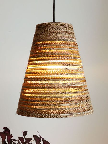 Hangelampen Wellpappe Hangeleuchte Koko Light O 30cm Ein