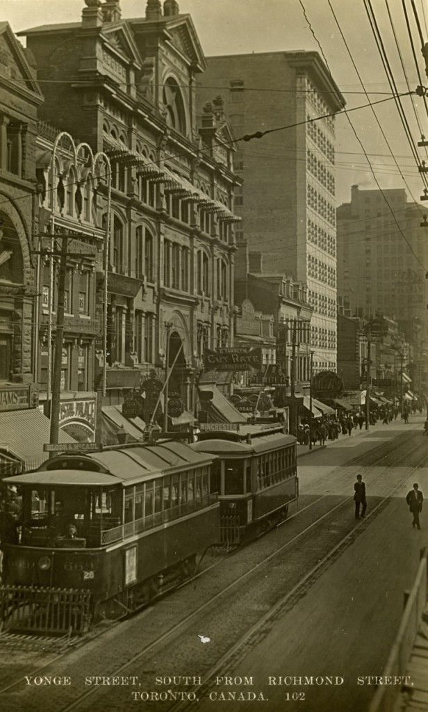 East side of Yonge Street, looking south from Richmond Street, 1911...