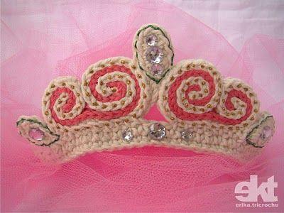 Princess Tiara on crochet pattern