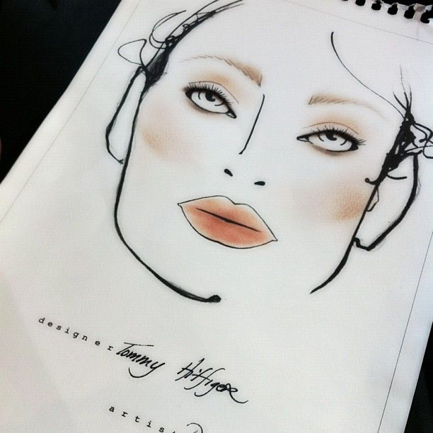 """c/o Karla Powell - """"Typical Tommy Girl"""" make-up approach at Tommy Hilfiger Spring 2013 Women's Collection #TOMMYSP13 #NYFW #Spring2013 #newyorkfashionweek"""