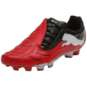 SALE - Puma PowerCat 3.10 Soccer Cleats Mens Red Leather - Was $60.00 - SAVE $18.00. BUY Now - ONLY $41.99
